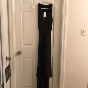 NWT Black high/low banana republic dress.